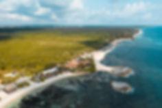 Берег Карибского моря в Мексике