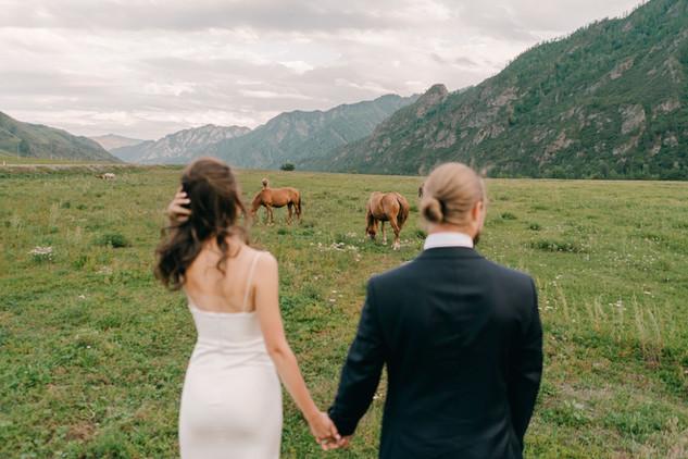 Символическая свадьба в Горном Алтае