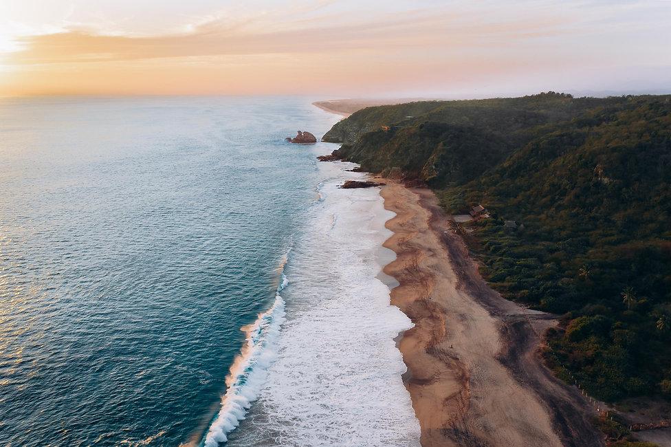 Закат на тихоокеанском побережье