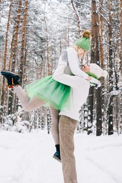 Love Story фотосессия зимой