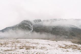 Зимний заснеженный Алтай. Курайская степь