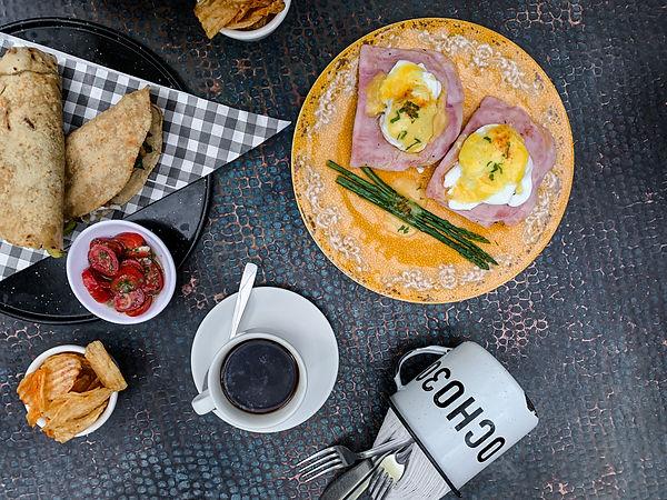 Завтрак в ocho30 в Чолула