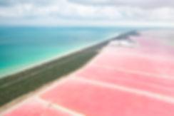 Розовые соленые озера Лас Колорадес