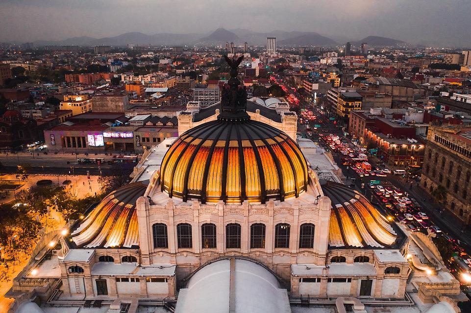 Bellas Artes на закате