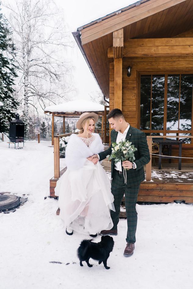 Уютная зимняя свадьба