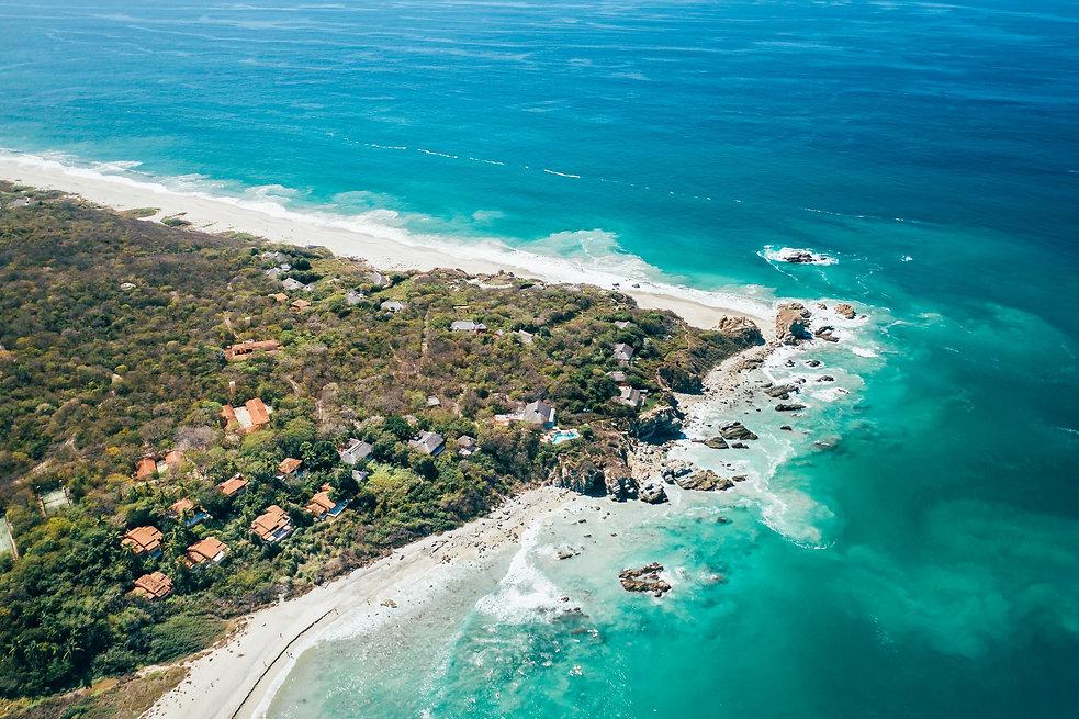 Пляж Тихого океана в Мексике
