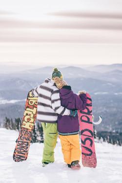 LoveStory фотосессия на закате зимой