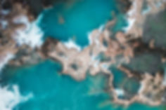 Каскад голубых водопадов в Мексике