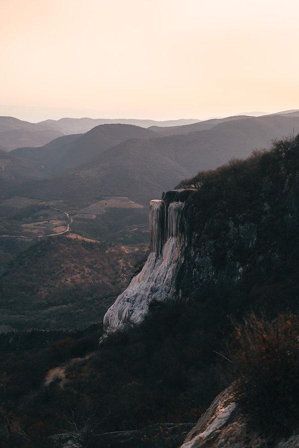 Hierve El Agua на закате