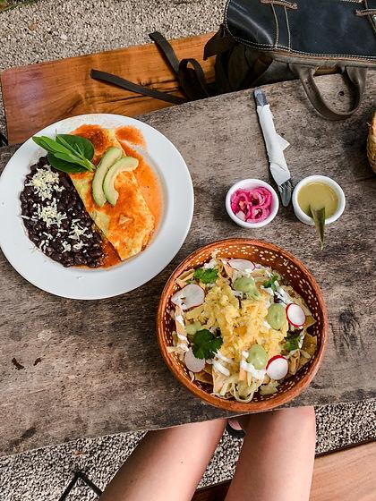 Завтрак в мексиканском кафе