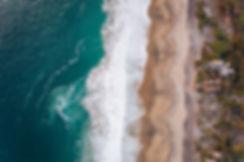 Огромный пляж на Тихом океане
