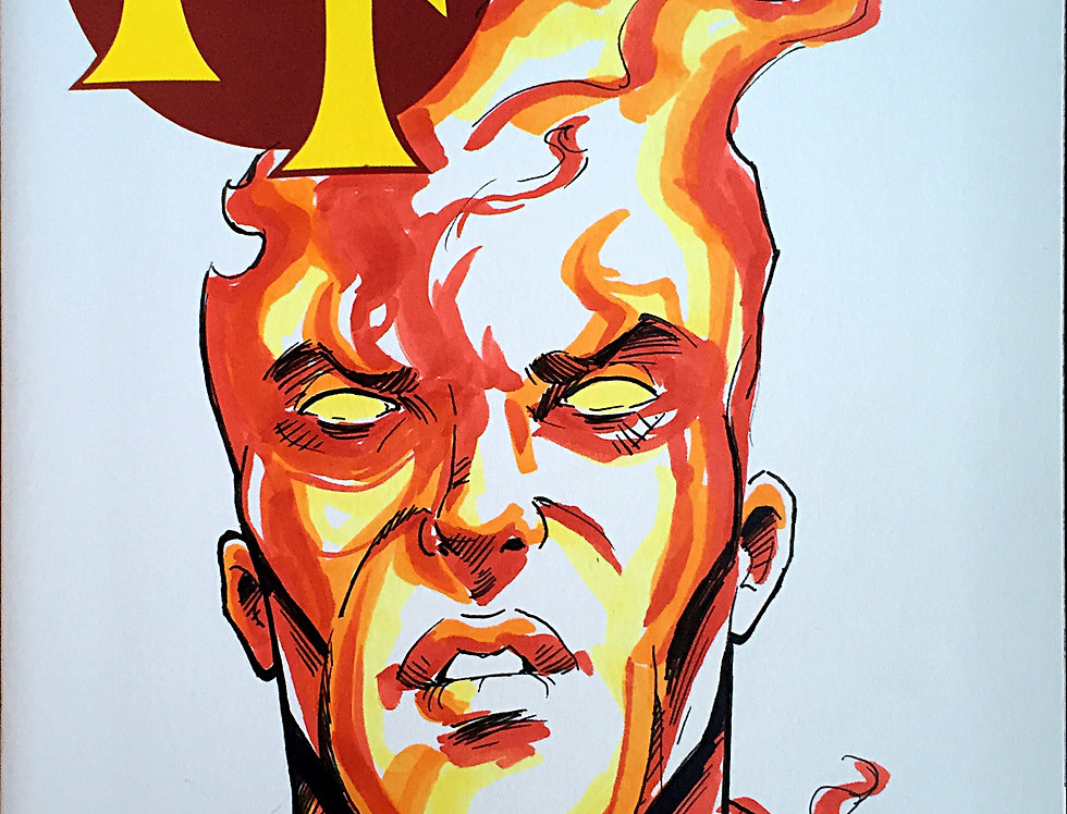 Human Torch Sketch Cover
