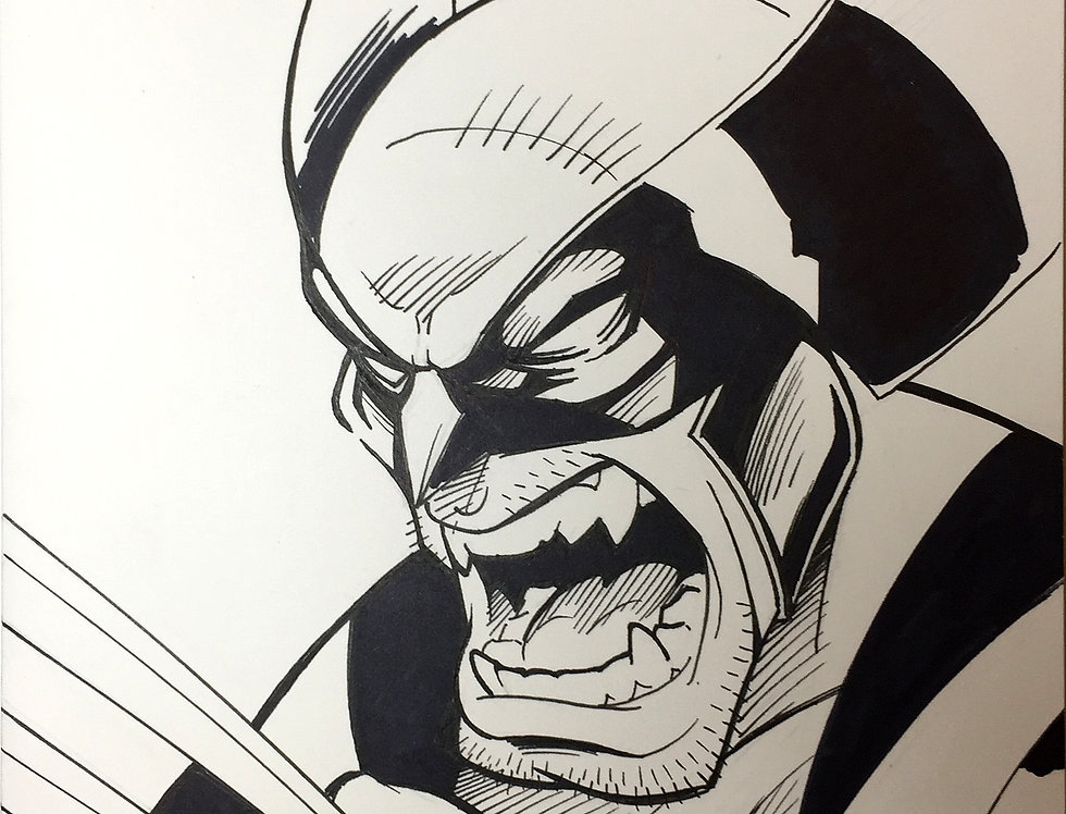 Wolverine Sketch Cover Black and White
