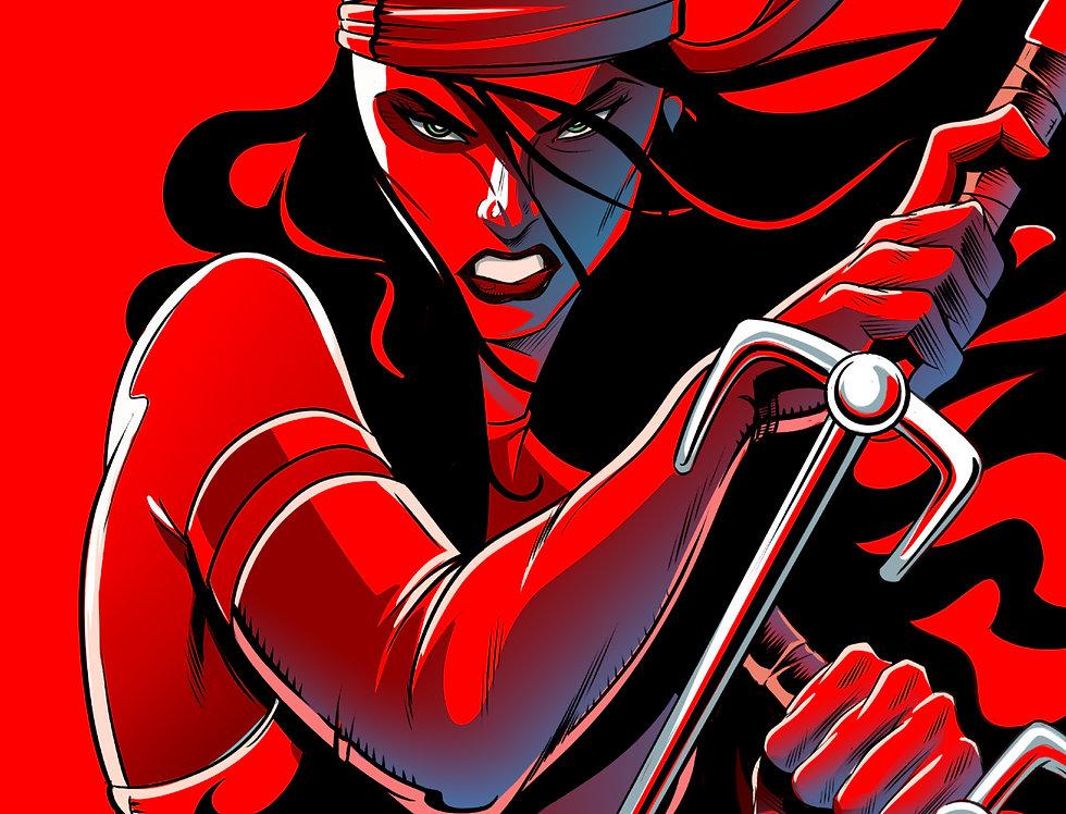 Elektra 11x17 Print