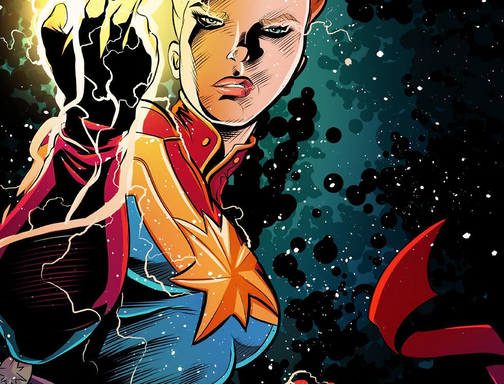 Captain Marvel 11x17 Print