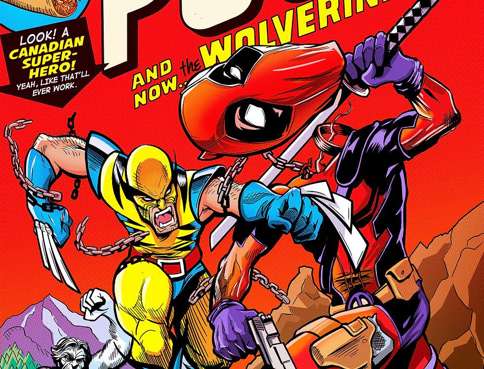 Wolverine vs. Deadpool 11x17 Print