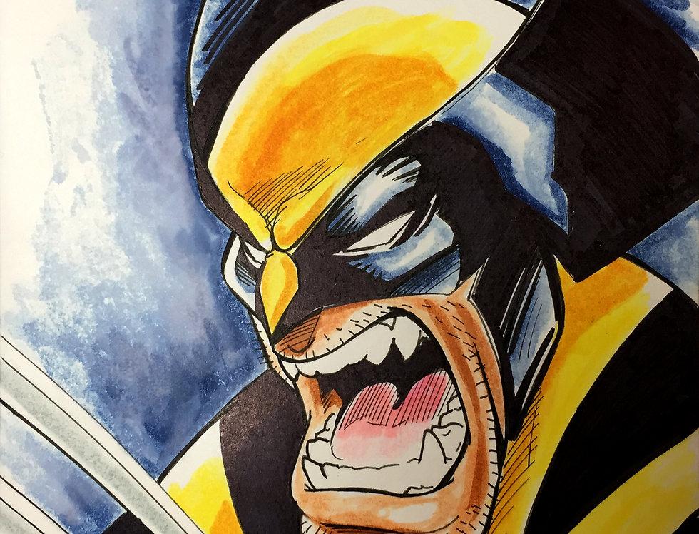 Wolverine Sketch Cover Color