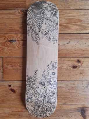 Lylou Tattoo - Custom Skateboard