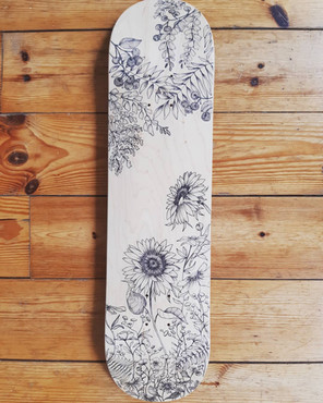 Lylou Tattoo - Custom Skateboard