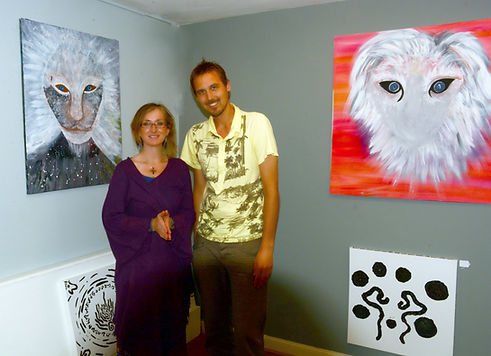 Michiel and Carmen at the Cosmic Frequencies of art and sound exhibition