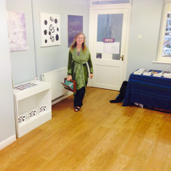 Carmen in the exhibition room