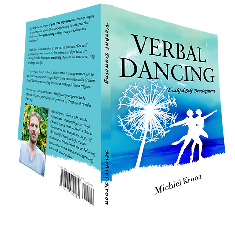 "Cover and back of the ""Verbal Dancing"" book."