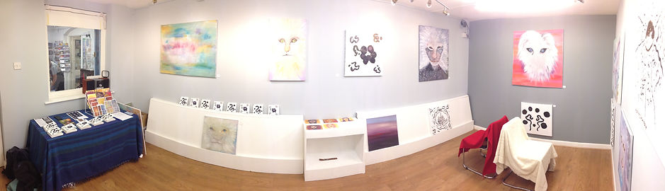 Exhibition Room panorama, Cosmic Frequencies of Art and Sound exhibition