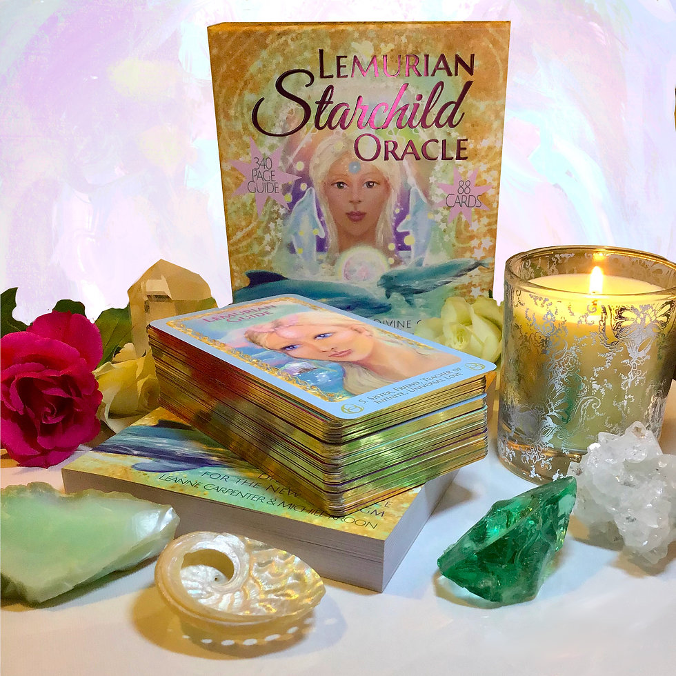 The Lemurian Starchild Oracle box and cards (book not displayed)