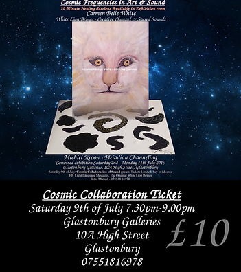 Ticket for cosmic collaboration of sound