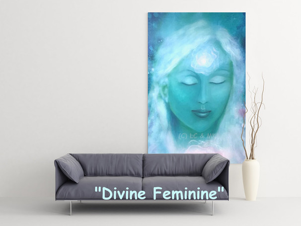 SOLD Divine Feminine (hand-finished) 120x80cm £111