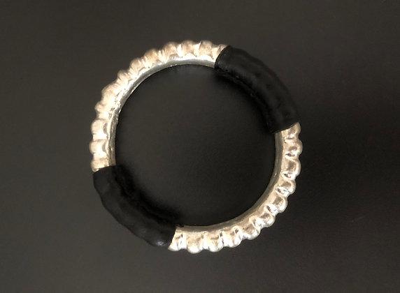 Bracelet Miao en Cuivre et Cuir
