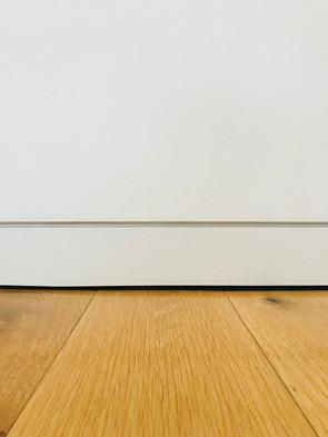 Skirting boards.  Shadow gaps.