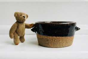 Thrown Leach Stoneware Pots (modelled by Ted!)