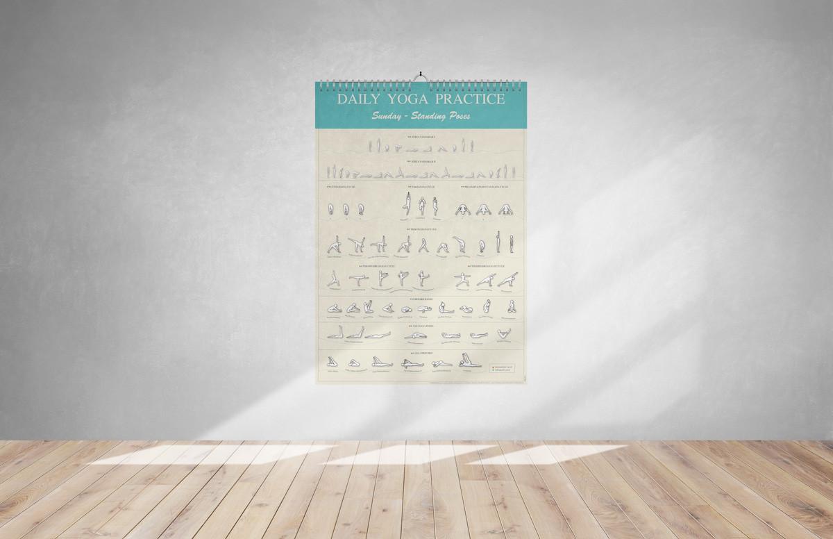 לוח תרגול יוגה יומי
