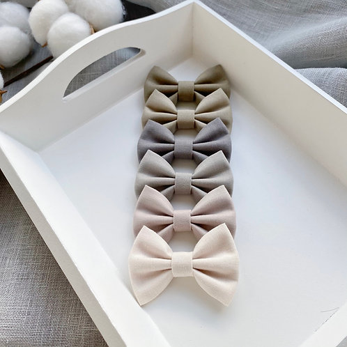 Neutral Cotton Bows