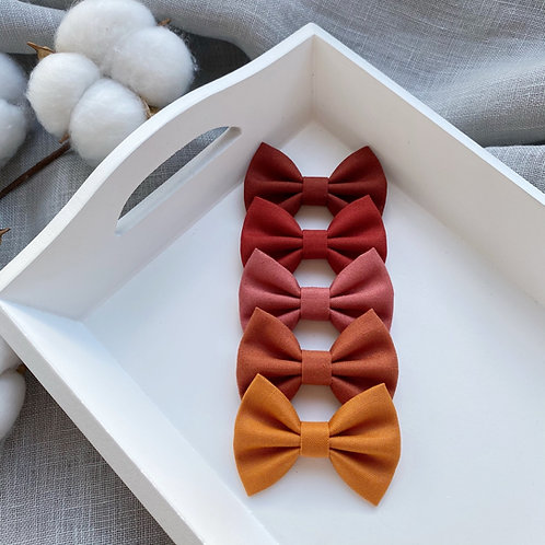Rust Cotton Bows