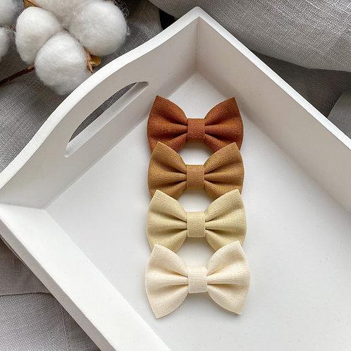 Biscuit Linen Bows