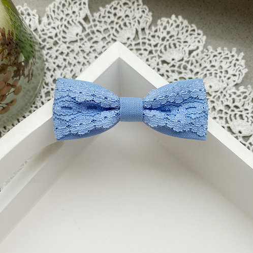 Blue Lace Skinny Bow
