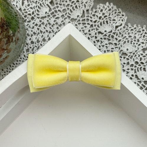 Chick Yellow Skinny Velvet Bows