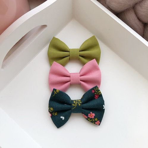 Green Floral Babycord