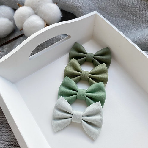 Pastel Green Cotton Bows