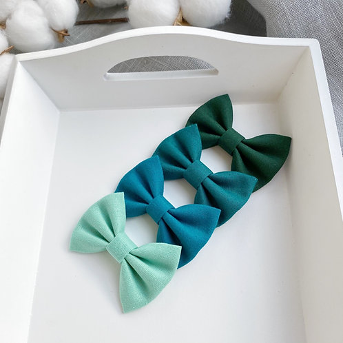 Teal Green Cotton Bows