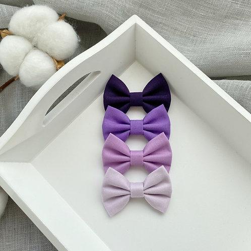 Lilac Cotton Bows