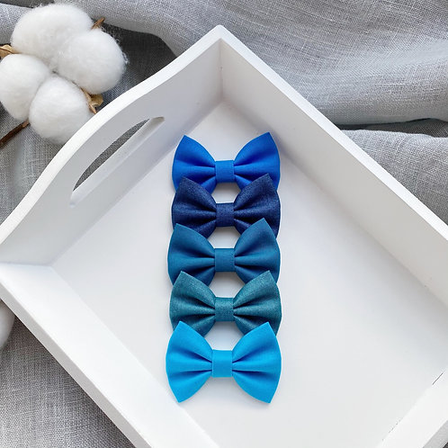Sea Blue Cotton Bows