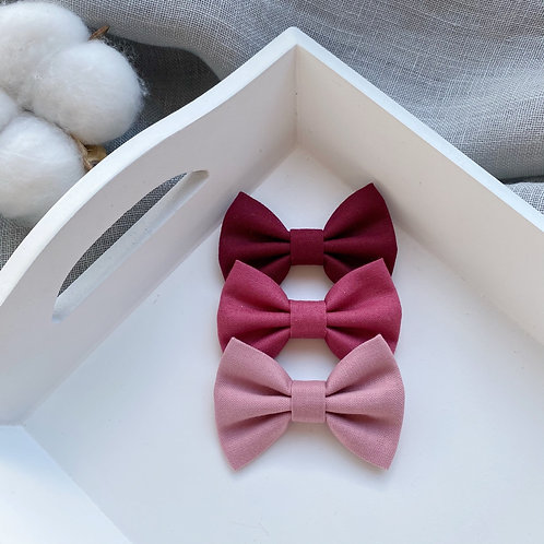 Rose Cotton Bows