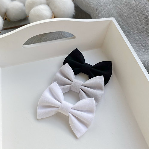 Monocrome Cotton Bows