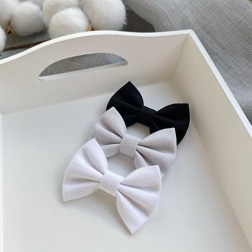 Monochrome Cotton Bows