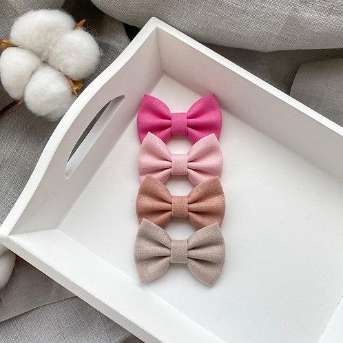 Pink Linen Bows