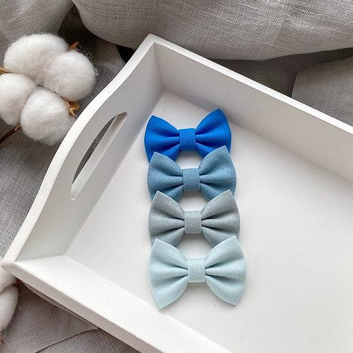 Sky Blue Linen Bows