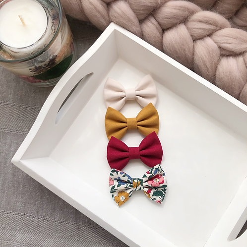 Autumn Wine Liberty Mamie Hairbows